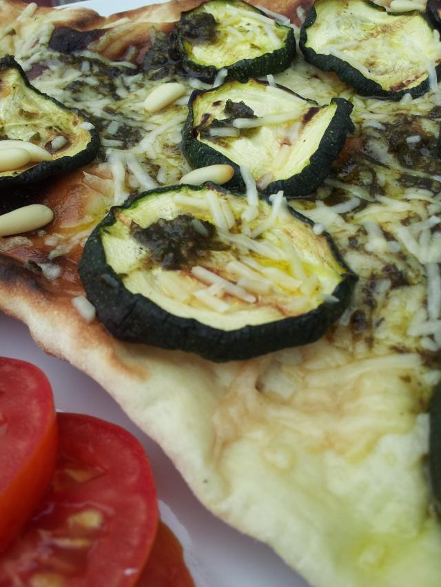 Pesto Zucchini Flatbread
