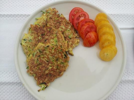 Zucchini oatmeal patties