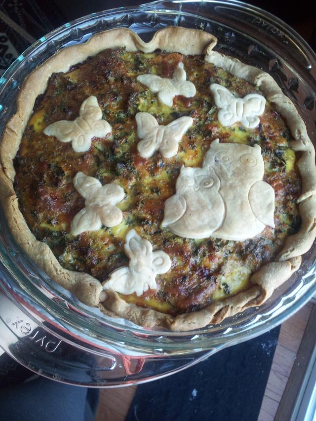kale cheddar pie