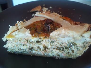 Kale Cheddar Pie Slice