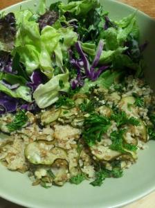 Bulgur & Millet Casserole w salad