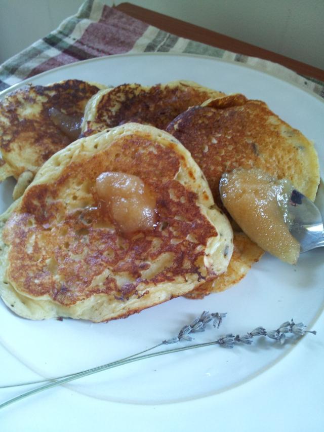 Gluten Free Lavender Honey Pancakes