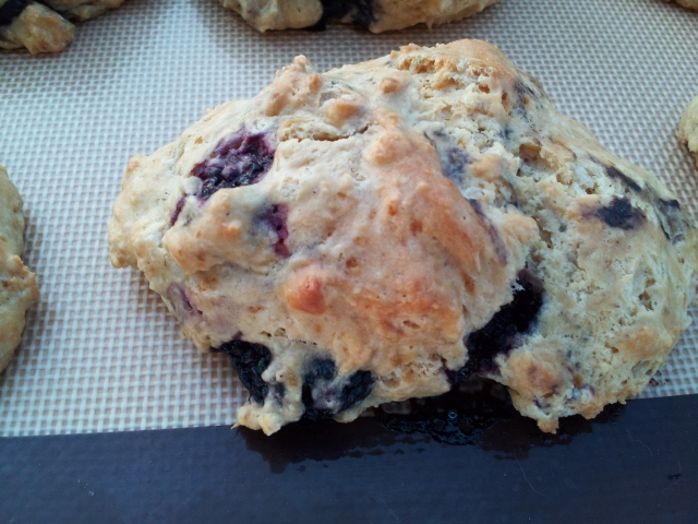 Blackberry Sweet Cream Scone