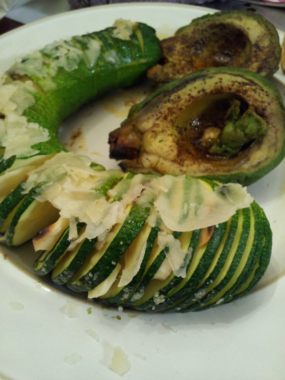 Grilled Harmonica Zucchini with Garlic