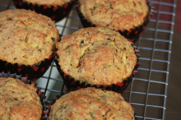 Zucchini Bread muffins from the grill